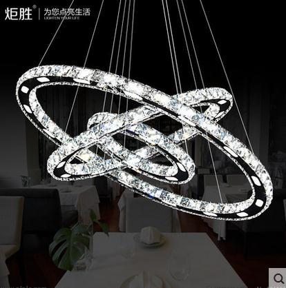 3 diamond ring crystal led pendant light suspension. Black Bedroom Furniture Sets. Home Design Ideas