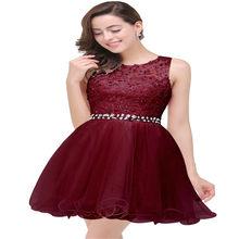 Платье без рукавов с кристаллами бордового цвета(Китай)