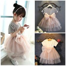 Baby Girls Summer Lace Toddler font b Dress b font Sequins Tulle Bow Tutu Gown font