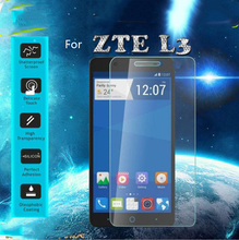 0.26mm Ultra-thin Quality Explosion-proof LCD Tempered Glass Film for ZTE Blade L3 L2 PLUS Screen Protector free shipping