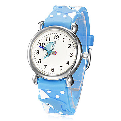 Children Wristwatches dolphin Waterproof Kid Silicone Watches Brand Quartz Wrist Watch Baby For Girls Boys Fashion Casual Reloj