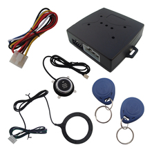 In Stock RFID Car Alarm Release Engine Automatically Good Quality Push Button And Transponder Card Learning Code Alarm System