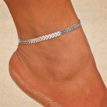 Женский винтажный ножной браслет KISSWIFE, многослойный ножной браслет с бусинами от солнца, вечерние ювелирные изделия ручной работы(Китай)