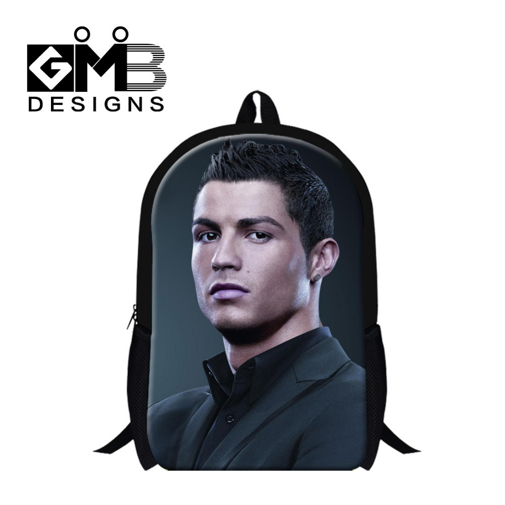 New Fashion 2016 Kids School Bags Cristiano Ronaldo Bags For Teenagers Boys  Shoulder Backpack Students Book 32e62161a1042