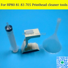 Printhead Cleaner Units Kit For HP81 HP83 Print Head Cleaning Tools For HP Designjet 5000 5500 1000 1050 1055 Printer