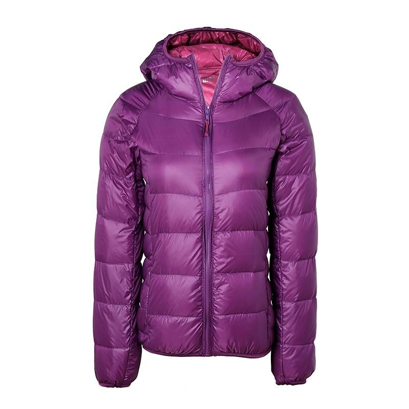 2016 women ultra light down jacket hooded font b winter b font duck down jackets slim