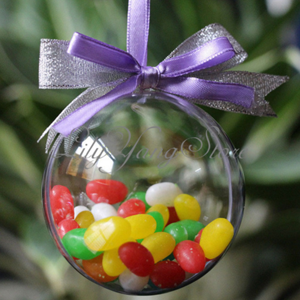 New 8cm Christmas Decoration Hanging Ball Baubles Round Bauble Ornament Xmas Tree Home Decor Christmas Baubles Xmas
