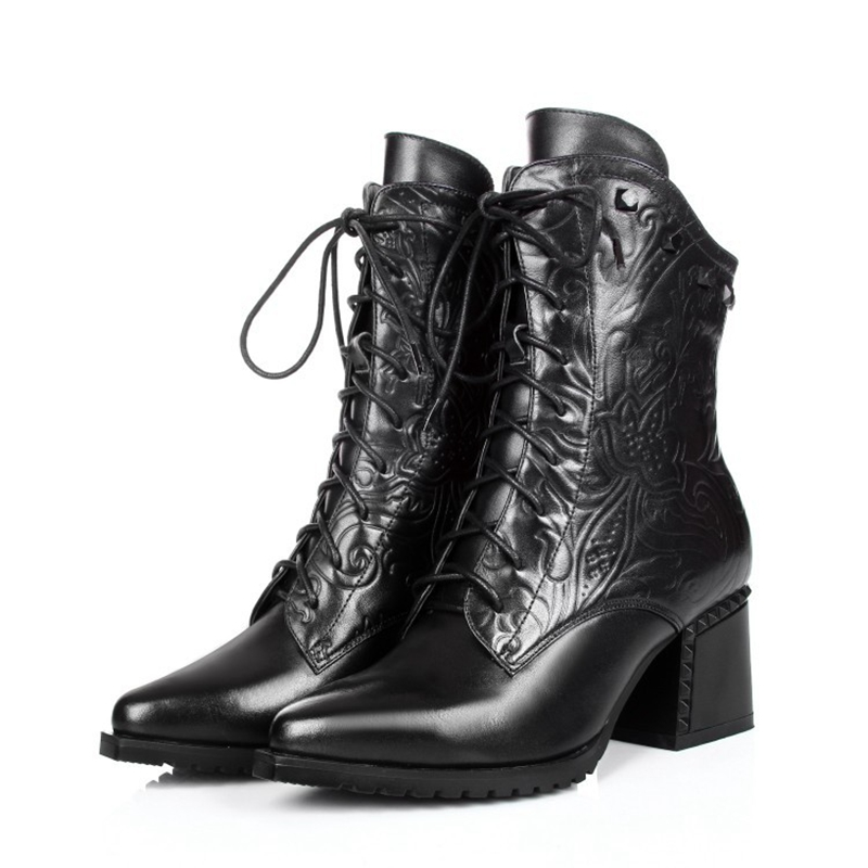 Women's boots 2016 Italian new design style leather boots
