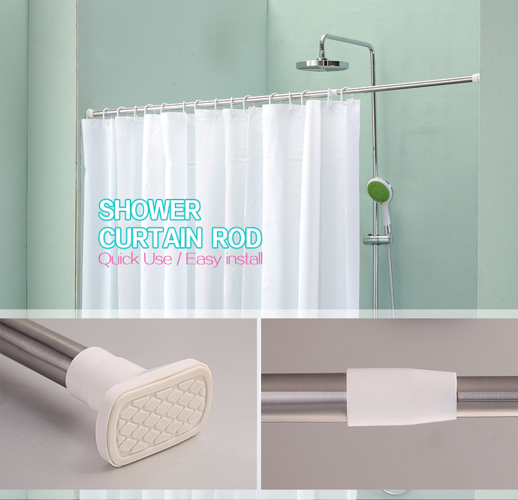 Straight Adjustable Shower Curtain Rodfactory Supplies Portable Rodstainless Steel