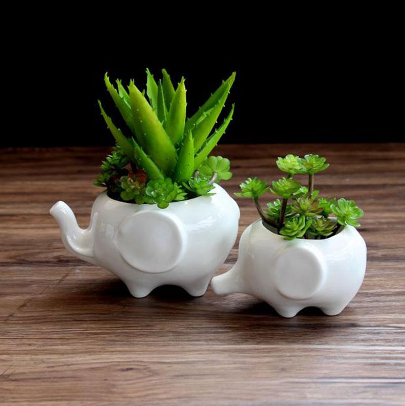Popular Ceramic Elephant Planter Buy Cheap Ceramic