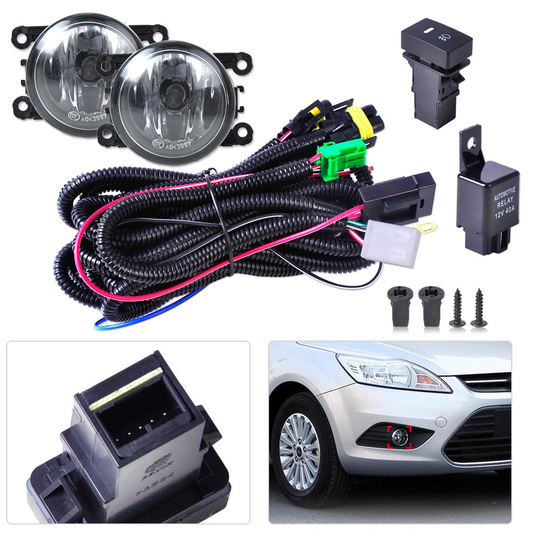 wiring harness sockets switch 2 fog lights h11 lamp 12v 55w kit