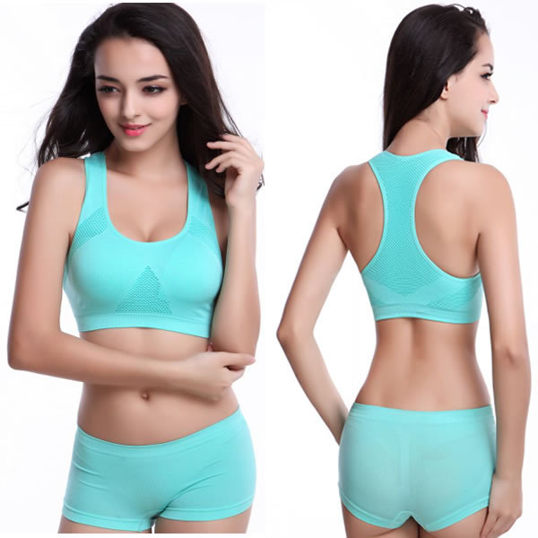 The New Running Shorts With Sports Bra Yoga Clothing Suits