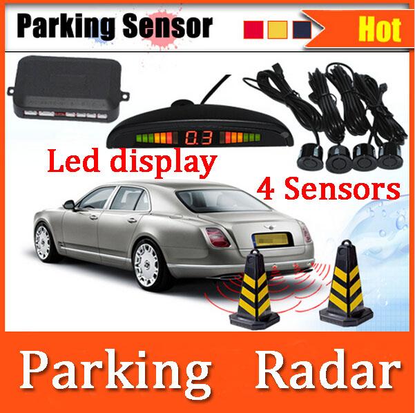 Автомобиль из светодиодов парковка обратный резервный радиолокационной системы с подсветкой из светодиодов дисплея 4 датчики 7 цвета оболочки + бесплатная доставка