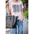 2016 Newest blusas femininas 2016 3D Applique Illustrator Print Short sleeve Elastic Women T shirt tops