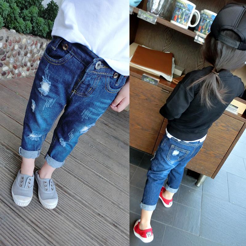m dchen jeans hosen kinder l cher jeans kinder tragen 2015. Black Bedroom Furniture Sets. Home Design Ideas