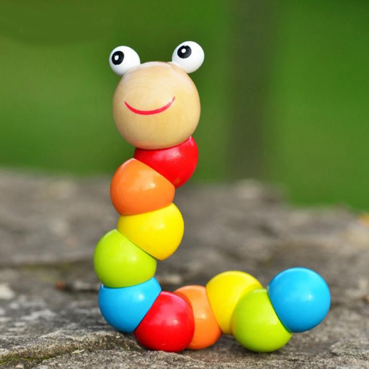 Cute Twist Caterpillar Wooden Toys Juguetes Littlest Pet Carpenterworm Baby Creative Educational toys kids toys insect