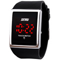 2016 new fashion waterproof silicone jelly LED touch screen electronic digital watches Unisex Students Casual Watches