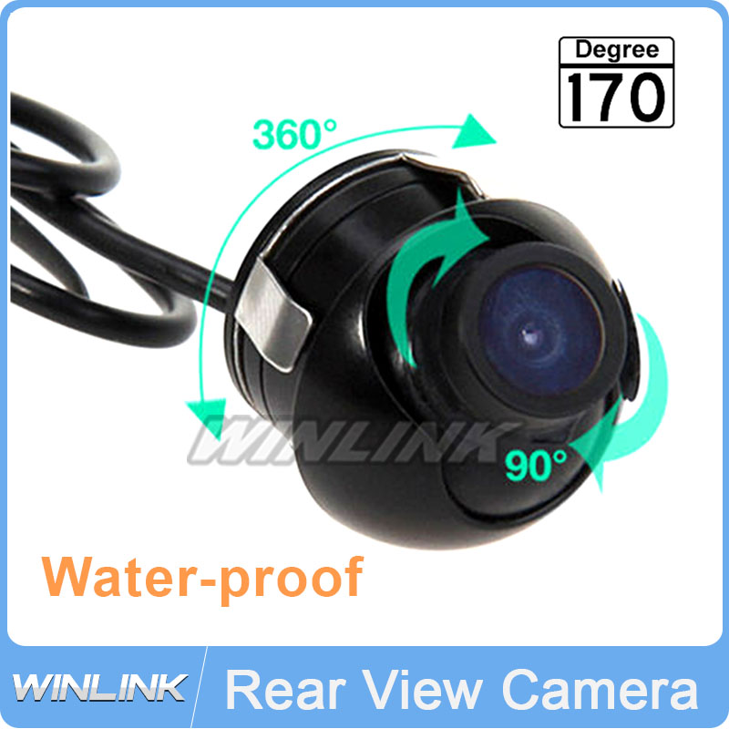 Waterproof Mini Wide Angle HD CCD Normal Image Car Front Rear View Camera With Mirror Image Convert Line Free Shipping