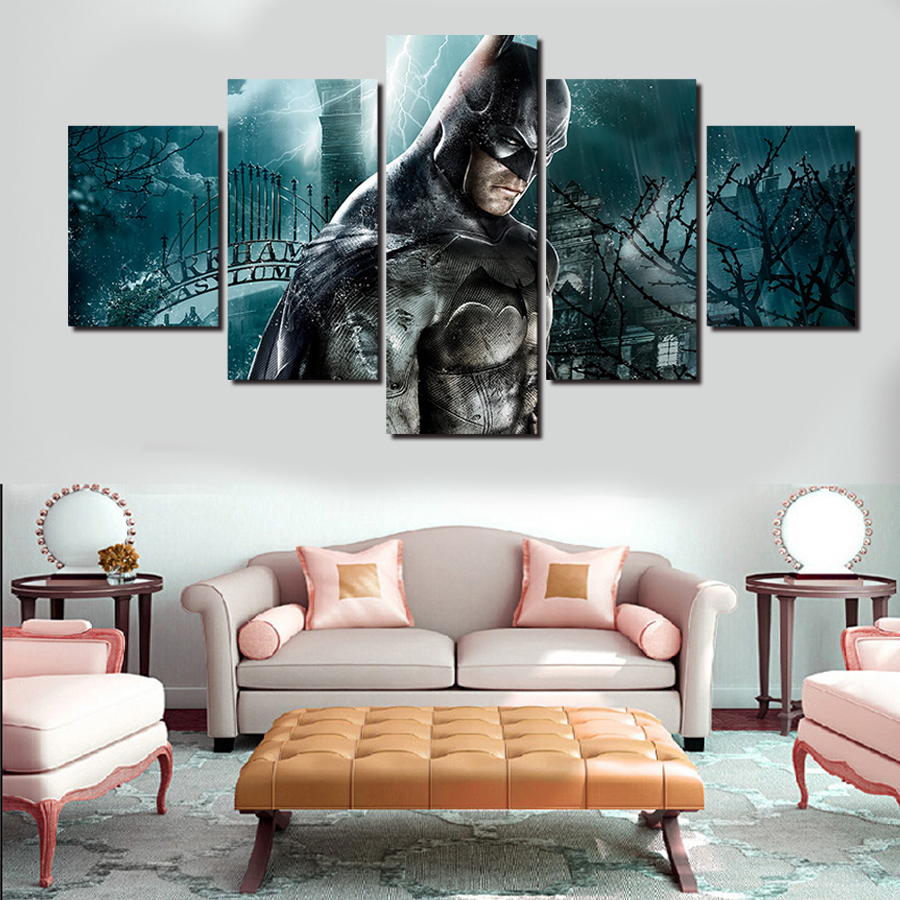 5 Pcs Frames Wall Art Picture Modern Home Decoration Living Room or Bedroom Canvas Print Painting Wall