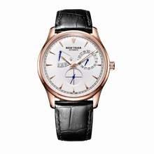Мужские наручные часы Reef Tiger/RT, элегантные автоматические часы с полным календарем, розовое золото, rga80(Китай)