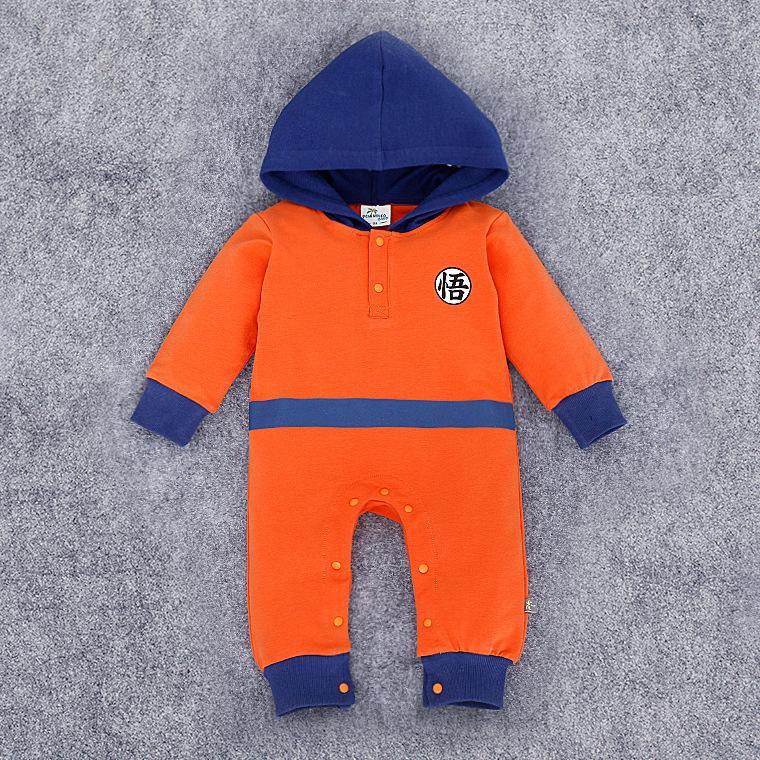 2019 Cartoon Dragon Ball Z Baby Rompers Newborn Baby Boy ...