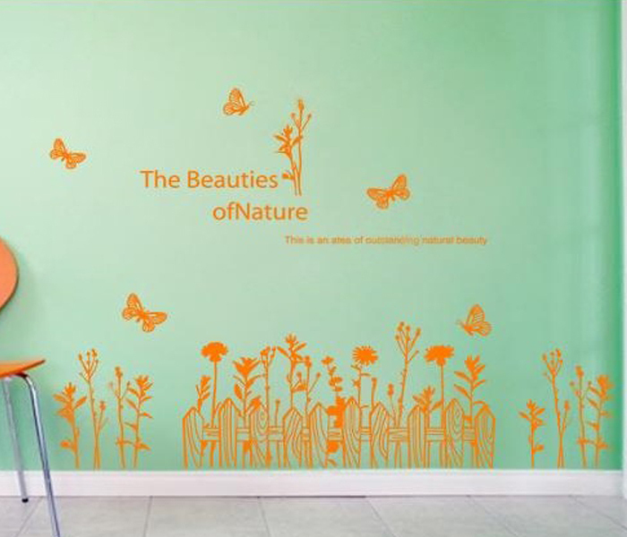 Adesivos De Parede Butterflys Wall Decals QuotesThe Beauties Of Nature Decals For Home Decoration Wall Decor PVC DIY Decoration