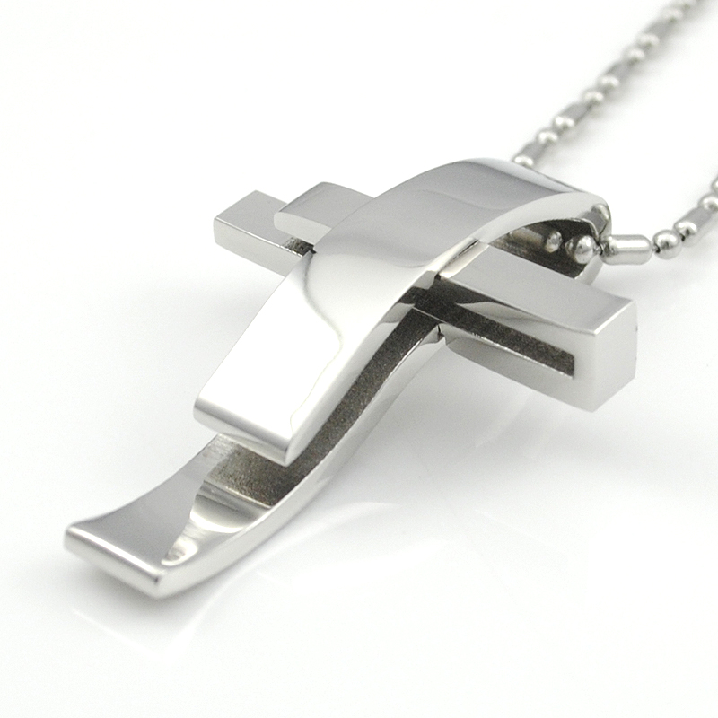 Silver Cross Stainless Steel christian jewelry Charms