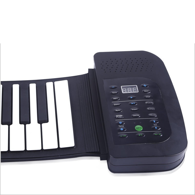 hot 88 key multifunctional piano teaching electronic organ usb folding midi controller music. Black Bedroom Furniture Sets. Home Design Ideas