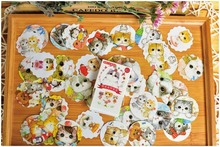 Forest New 40Pcs pack Cute Chunky Cat Diary Label Sticker Pack Decorative Mobile Stickers Scrapbooking DIY