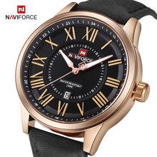 Naviforce бренд Для мужчин аналоговый Кварцевые наручные часы кожа Водонепроницаемый Спортивные часы Для Мужчин's Повседневное часы мужской ...(Китай)