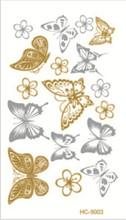 10x6cm sex products Supply 10.5*6cm waterproof tattoos gold tattoo flash tattoos gold silver tatoo temporary stickers HC-5003