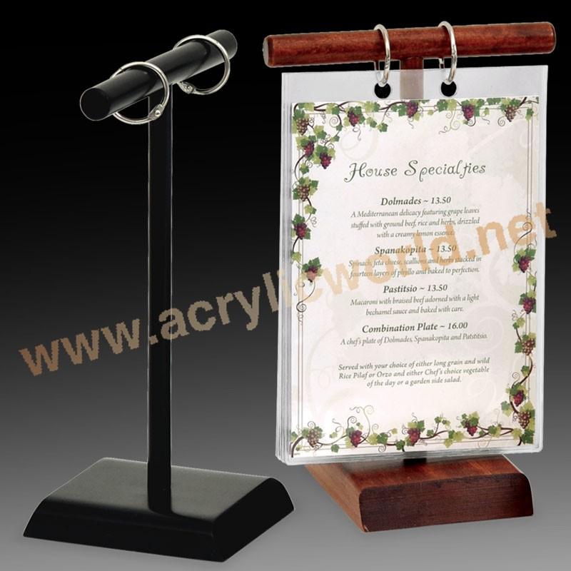 Tabletop Mini Chalkboard Wooden Menu Holders For