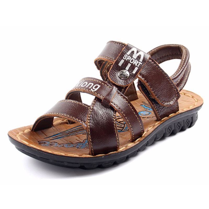 Children s shoes sandals 2016 new leather sandals boys big virgin beach baby sandals