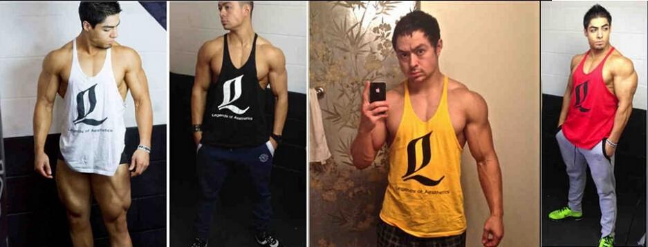 Singlet Bodybuilding Fitness Men ③ Racerback Racerback