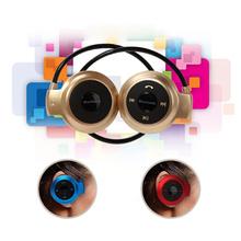 Wireless Headphone New Mini 503 Neckback Sport Bluetooth Handsfree Stereo Headset Earphone Micro SD Card Slot+FM Radio