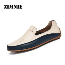 Summer Causal Shoes Men Loafers high quality Genuine Leather Moccasins Men Driving Shoes High Quality Flats For Man size 36-47