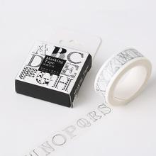1Box New 10 Meter Creative Graffiti Letters Washi Tape Adhesive Tape DIY Scrapbooking Sticker Label Masking Tape H1175