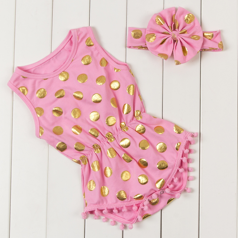 8815c739a630 Wholesale-gold-dots-baby-boutique-clothing-new-arrival-