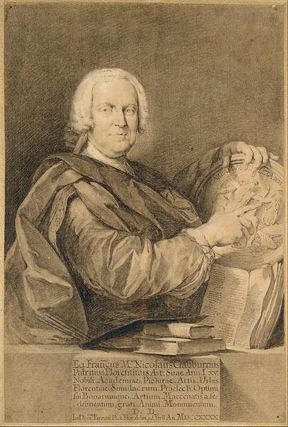 Canvas Art Prints Stretched Framed Giclee Painting Domenico Ferretti <font><b>Italian</b></font> Portrait Cavaliere Francesco Maria Niccolo Gabburri