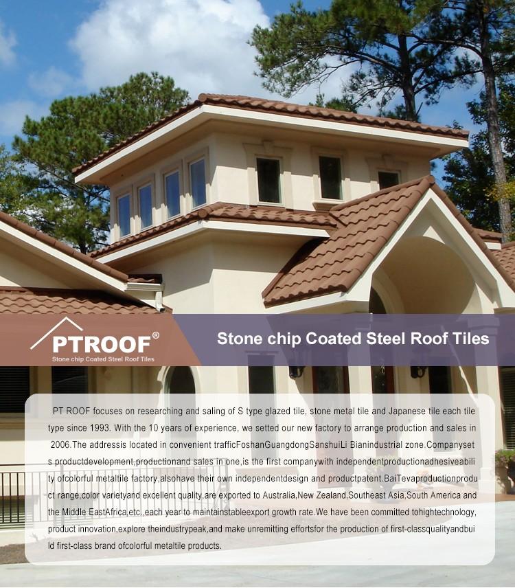Long Span Monier Villa Roof Price Z120 Stone Coated Metal