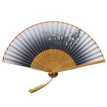 Традиционные китайские вентиляторы, бамбуковый шелк, складной Ручной Веер, вентиляторы, ручные вентиляторы, бамбуковые вентиляторы, женски...(China)