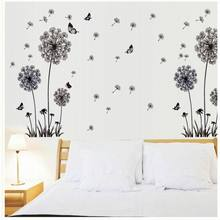 """Butterfly Flying In Dandelion ""bedroom stickersPoastoral Style Wall Stickers Original Design 2016 PVC Wall Decals ZY515125"