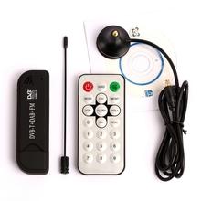 USB2.0 DAB FM DVB-T RTL2832 R820T SDR RTL-SDR E4000 Upgrade Verion Dongle Stick Digital TV Tuner Receiver IR Remote