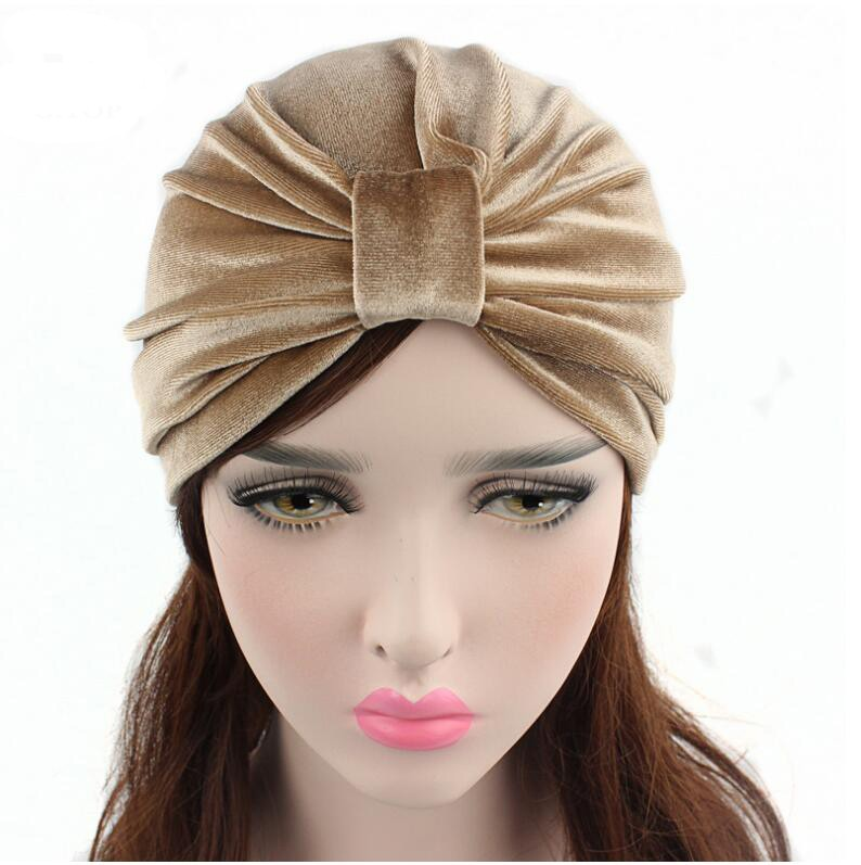 New Arrival women hats velvet turban caps dome caps head wrap Europe style india hats women beanies skullies for fall and spring
