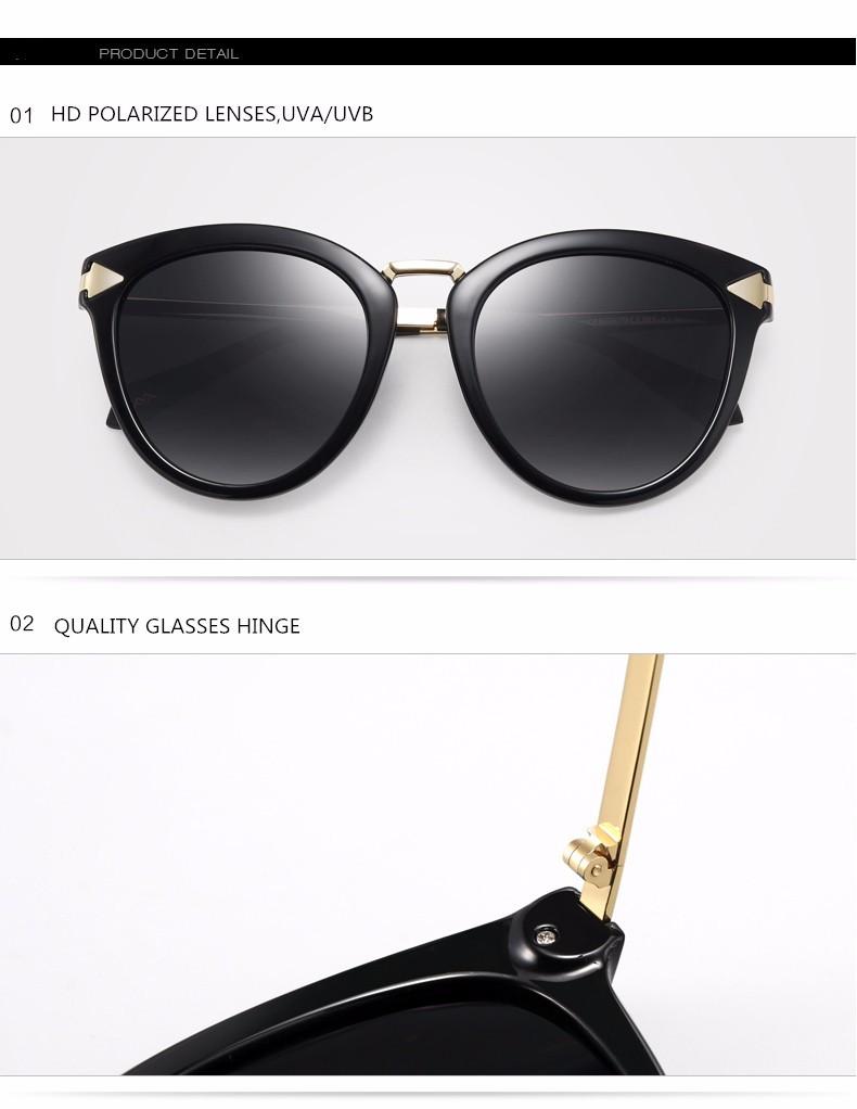 a3b091c443d Parzin Polarized Sunglasses Vintage Colorful Sunglasses Women Retro Ladies  Sun Glasses Shades Driving Glasses With Case 9876