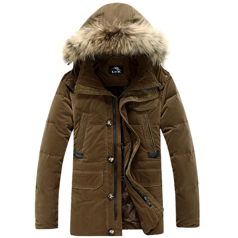 Good quality Mens winter duck Down Parkas men Brand