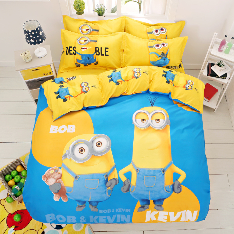 2daf0cd945 Wholesale-Cartoon Minions Bedding Set Despicable Me Bed Linen for ...
