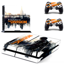 Hot Tom Clancy's The Division Game Stickers For Sony Playstation 4 Console Skin For PS4 Controller Cover Sticker
