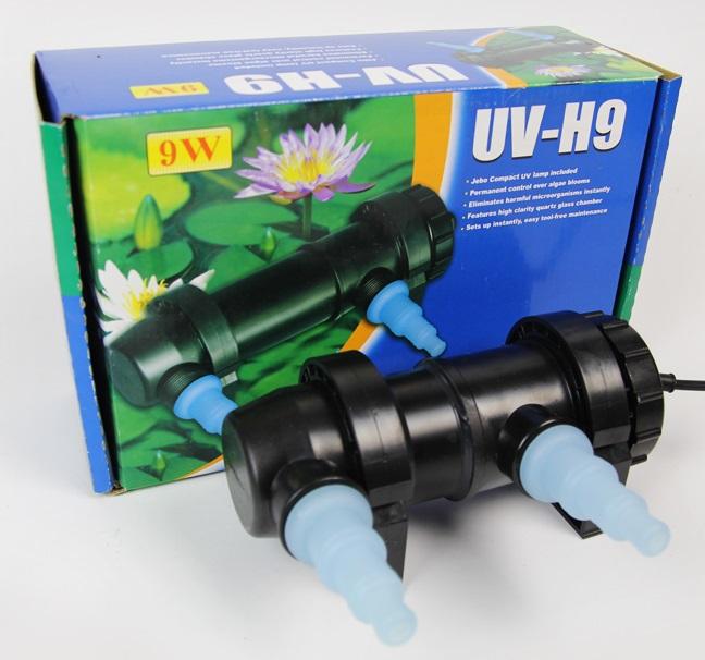 jebo 9w wattage uv sterilizer lamp light ultraviolet filter clarifier water cleaner for aquarium. Black Bedroom Furniture Sets. Home Design Ideas