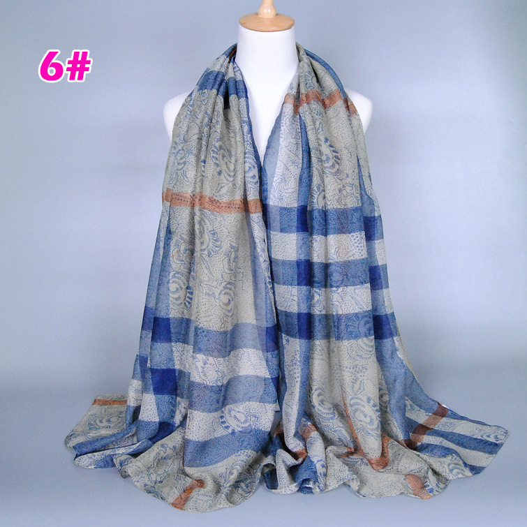 New Arabian Style Selling Scarves Plaid Voile Scarves ...